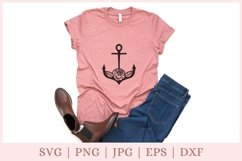 Floral Anchor SVG, Nautical SVG file Product Image 3
