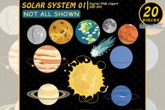 SOLAR SYSTEM clipart, Planet clip art, EDUCATIONAL design Product Image 3