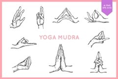 Yoga meditation hands in mudra bundle Product Image 1