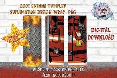 20oz  Fireman  Sublimation Tumbler Wrap   Design Bundle Product Image 5