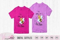 Big sister svg, kids svg, Bee quote svg, word art svg, Product Image 2