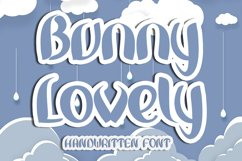 Bunny Lovely - A Handwritten Font Product Image 1