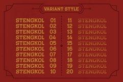 STENGKOL - 20 Font Family Product Image 5