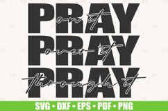 Pray On It SVG files for Cricut, Pray Over It svg cut file Product Image 1