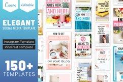 Elegant Canva Editable Social Media Template Bundle Product Image 1