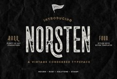 Norsten Condensed Typeface Product Image 1