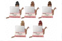 Planner girl clipart, girlboss Businesswoman blogger Product Image 3