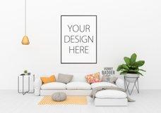 Blank wall mockup - wall art mock up Product Image 2