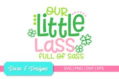 Little Lass SVG | St Patricks Day SVG | Luck Shirt Des Product Image 1