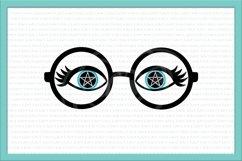eyelashes svg, glasses svg, witch eyes svg, witch makeup Product Image 1