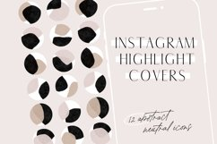 Neutral Abstract Instagram Highlight Covers Product Image 1