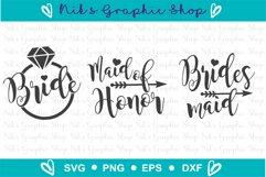 Bride Svg, Bridal Party Svg, Bride Squad Svg, Bride Shirt Product Image 2
