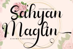 Sahyan Maglin - Luxury Calligraphy Font Product Image 1