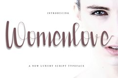 Womenlove - Beauty Calligraphy Font Product Image 1