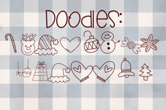 Candy Canes - A Font With Christmas Doodles! Product Image 4