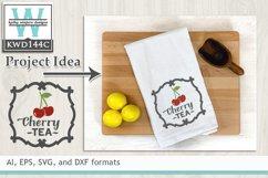 Tea SVG - Cherry Tea Label Product Image 1