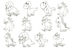 Dinosaur vector clipart. Baby animal for children. Product Image 4