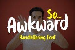 Web Font Awkward - Handlettering Font Product Image 1