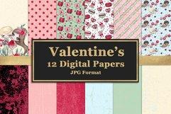 Valentine's Digital Paper Pack Product Image 1