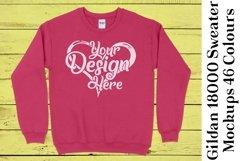 Gildan Sweatshirt Mockup 18000 Mock Up Black White Grey 943 Product Image 2