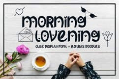 Morning Lovening | Cute Display Font Product Image 1