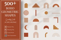 Boho Geometric Shapes & Elements - More than 500 Product Image 1