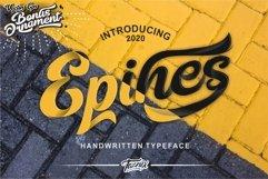 Epines Bold Brush Modern Script Bonus Swash Product Image 1