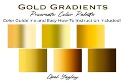 Gold Gradient Procreate Color Palette / Metallic Colors Product Image 2
