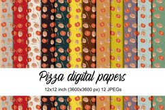 Pizza digital papers Product Image 1
