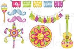 Cinco De Mayo Clipart, Mexico Clipart, Fiesta Graphics Product Image 5