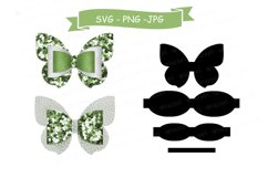 Butterfly Bow SVG Cut File, Hair Accessories SVG Template Product Image 1