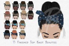 Top Knots Clipart Set Product Image 4