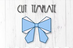 Hair bow template SVG, DIY leather bow template Product Image 2