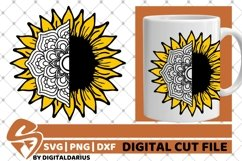 Sunflower Mandala svg, Yellow Flower svg, Zentangle svg, Sun Product Image 1