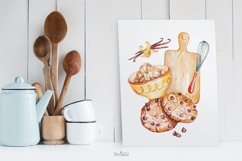 Baking Watercolor Clipart. Kitchen clipart. PNG Product Image 3