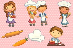 Cute Kids Cooking Illustrations Product Image 3