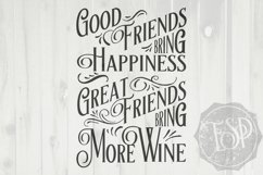 Great Friends Bring More Wine, Wine, SVG DXF PNG, Cutting File, Printable Product Image 2