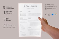 Resume and Cover Letter Template   Minimalist Resume CV Product Image 8