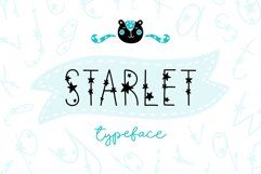 Starlet Typeface with Clipart! Product Image 1