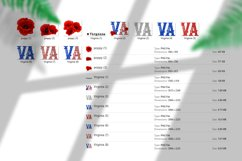 State abbreviation. USA sublimation. Virginia Product Image 5