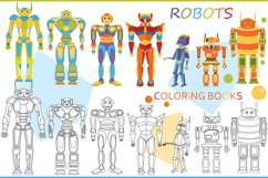 Funny robots. Coloring. Product Image 1