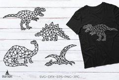 Dinosaur svg T rex svg Geometric animals Dino svg Cut file Product Image 1