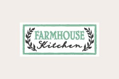 Farmhouse Kitchen Sign - Machine Embroidery Design Product Image 1