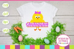 Easter Chick, Chick Split Monogram, SVG, DXF, PNG Product Image 1