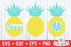 Pineapple SVG | Polka Dot Pineapples | Monogram Frame Product Image 1