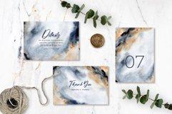 Elegant Grey Gold Abstract Background Wedding Invitation Set Product Image 2