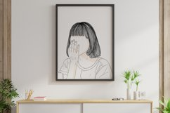 Art Print | The image of the girl's face covering her face Product Image 6