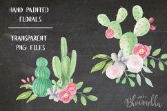 Watercolor Cactus Clipart Bouquets Arrangements Flowers Product Image 2