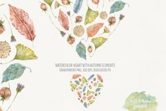 Heart of Autumn. Watercolor compositions Product Image 3