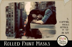 Clipping Masks - Rolled Paint Photoshop Masks & Tutorial Product Image 1